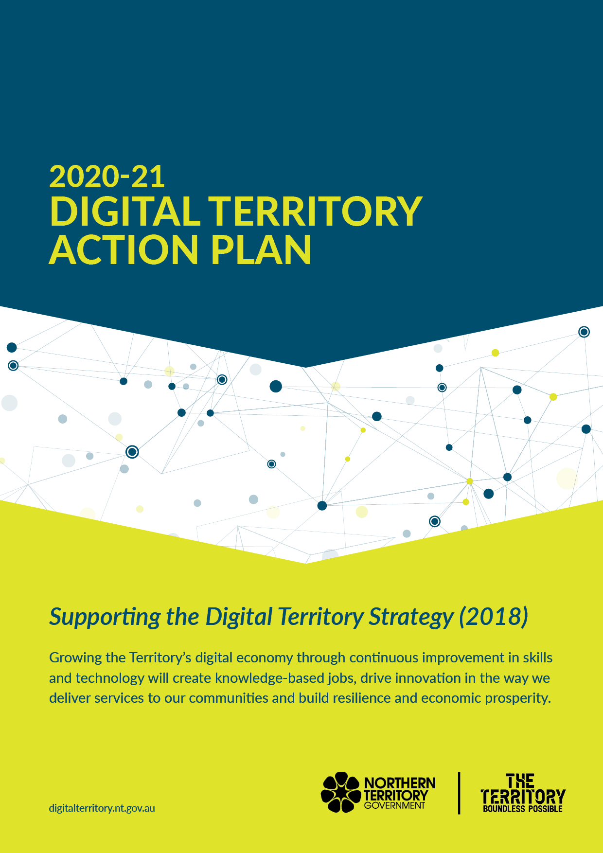 Document cover: Digital Territory Action Plan 2020-21